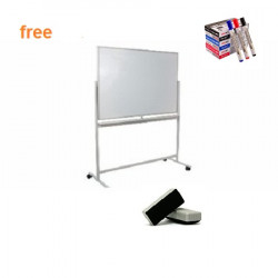 Double Sided Lead Mobile Magnetic Whiteboard 3ftx6ft