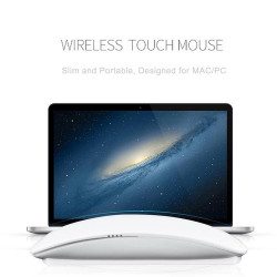 Wireless Bluetooth Rechargeable Magic Mouse For Apple Tablet/Mac with mouse pad