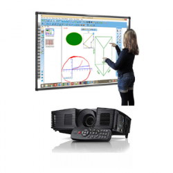 LEADBoard (LB) Interactive board with Multimedia Projector and Remote/Pen Holder